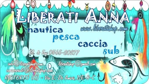 Liberati Anna a Riotorto LI effettuerà uno sconto del 10% su tutta l'attrezzatura ai clienti del Centro di Pesca Arcipelago Toscano