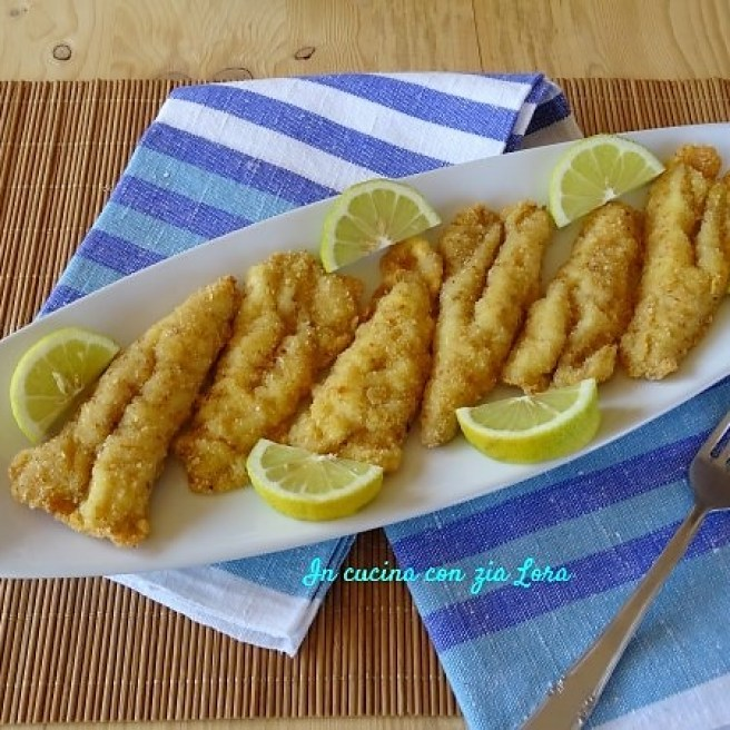 pesce sfilettato e fritto