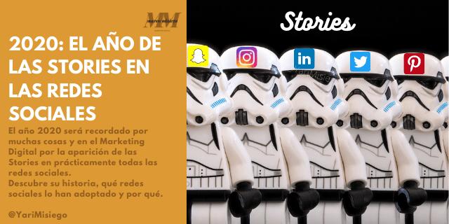 Stories en redes sociales y webs