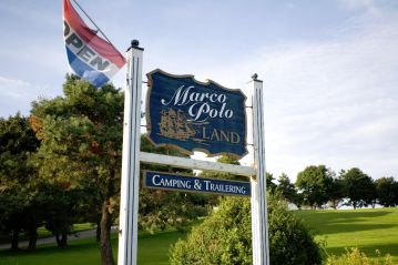 Marco Polo Land Sign - Camping and Trailering in Cavendish PEI