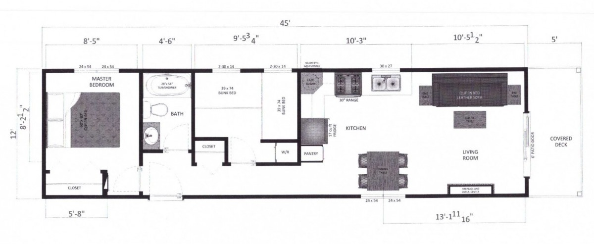 floor plan deluxe cabins Marco Polo Land