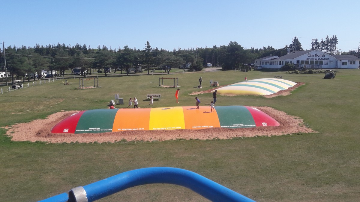 PEI Camping at its best at Marco Polo Land in Cavendish, PEI
