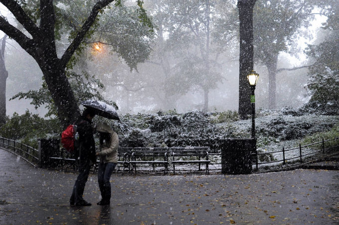New York sneeuwt