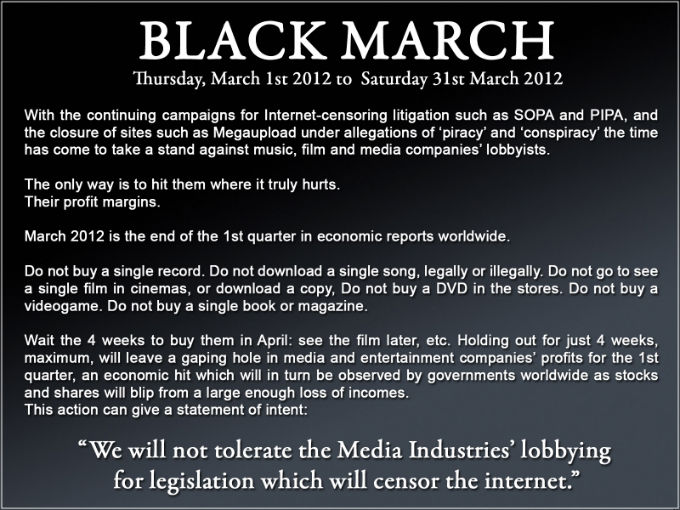 Black March. Can we do it, reddit