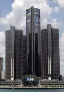 Sede da GM em Detroit, Michigan, EUA.