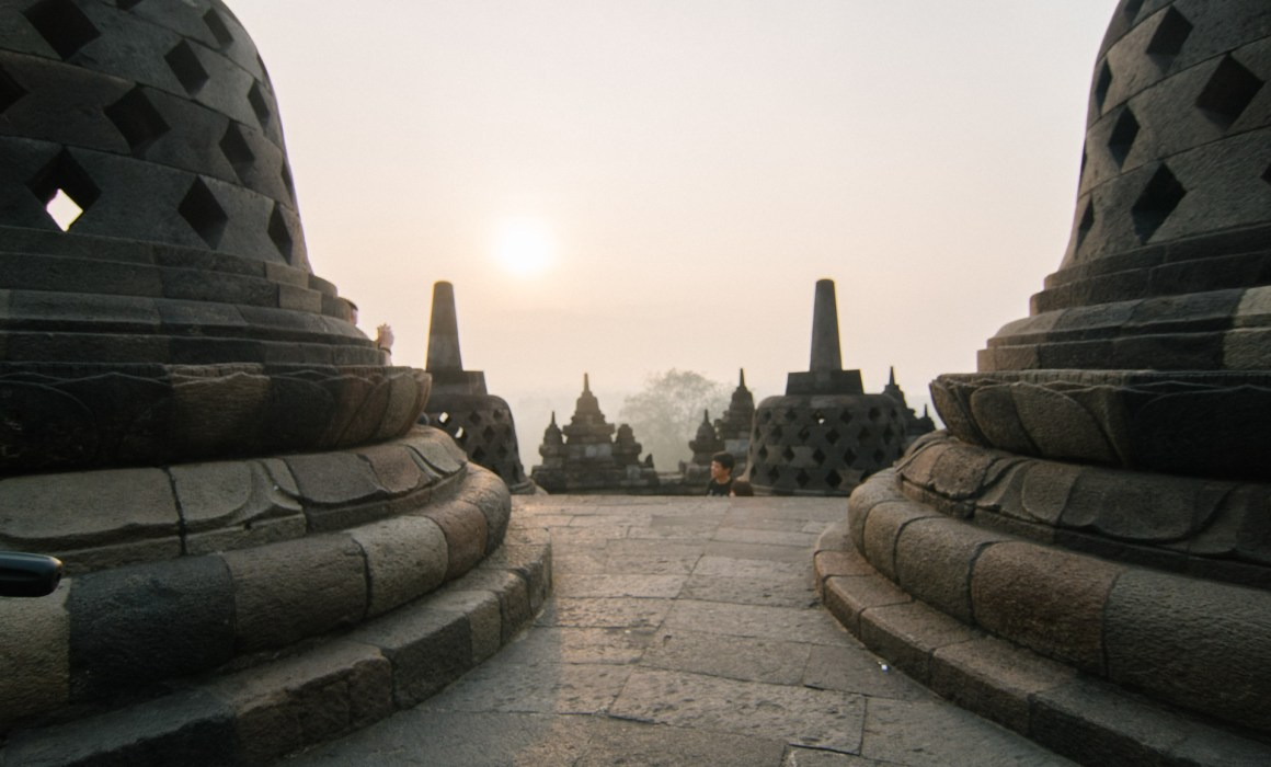 Borobudur Sunrise Sonnenaufgang Tempel Temple Yogyakarta Jogja Indonesien Indonesia