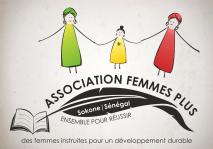"The logo I created for the Senegalese organization ""Femmes Plus"""