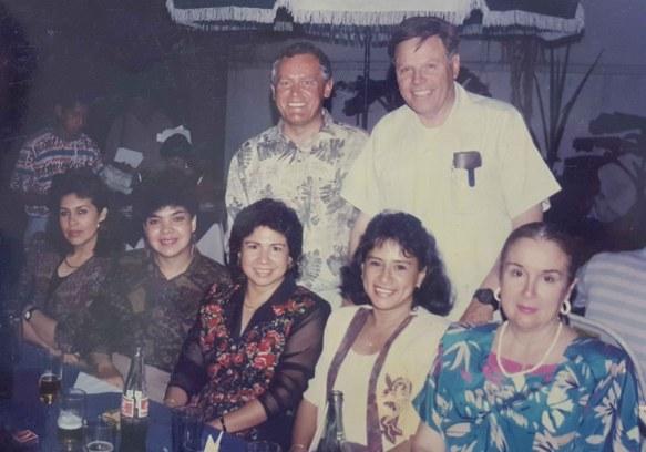 Celia Roca con Federico Ohnes y Ernesto hijo