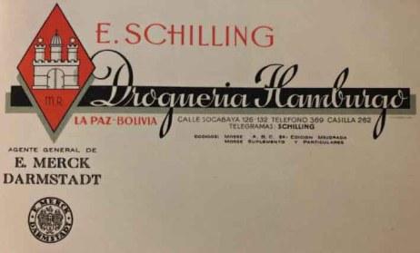 Tarjeta de presentación Droguería Hamburgo