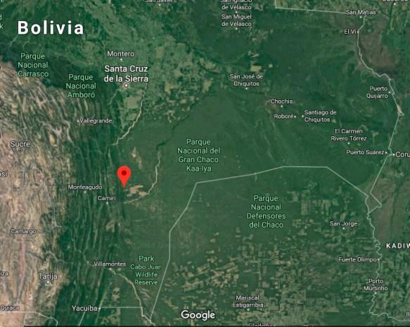 Mapa Charagua
