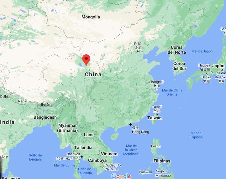 Mapa ubicación Xining 2