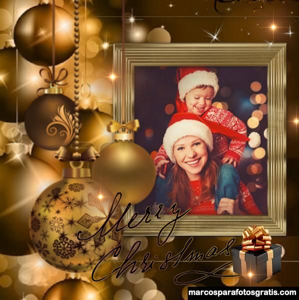 Marcos navideños para decorar fotos