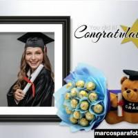 Marcos para editar fotos de Feliz Graduación