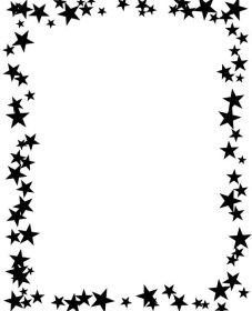 Marco para hoja estrellas sencillas