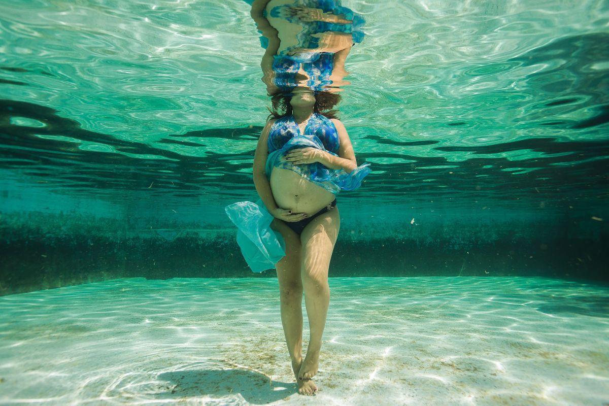 fotógrafo de embarazo bajo el agua, Marcos Valdés