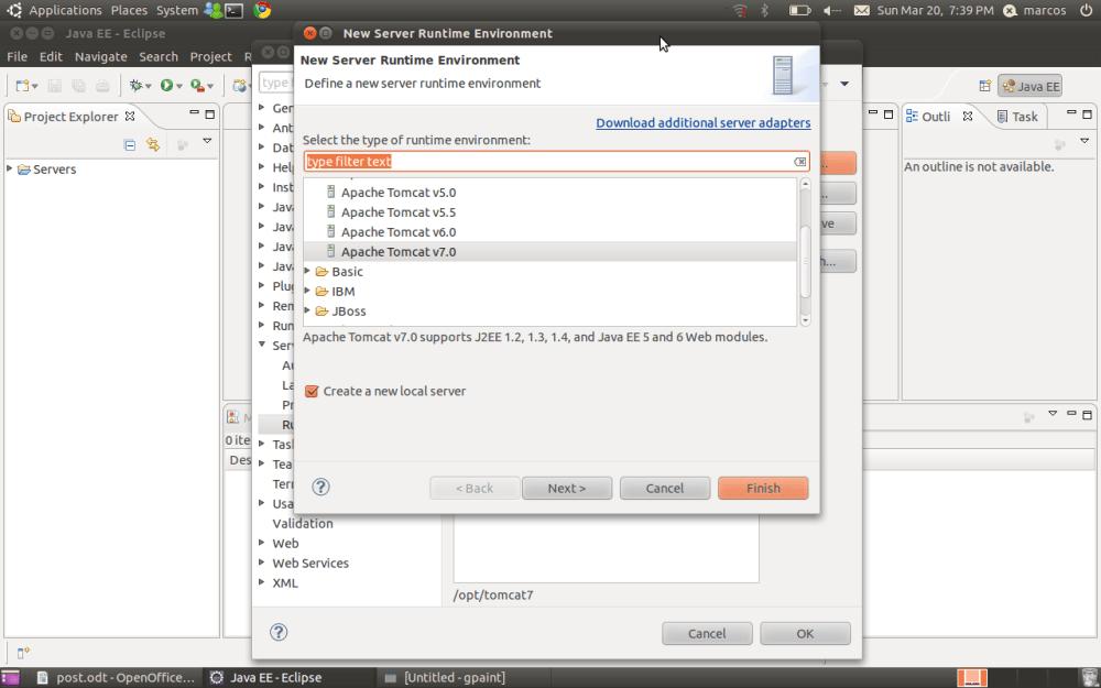 Ambiente Java EE no Ubuntu (Tomcat + Eclipse) (4/6)
