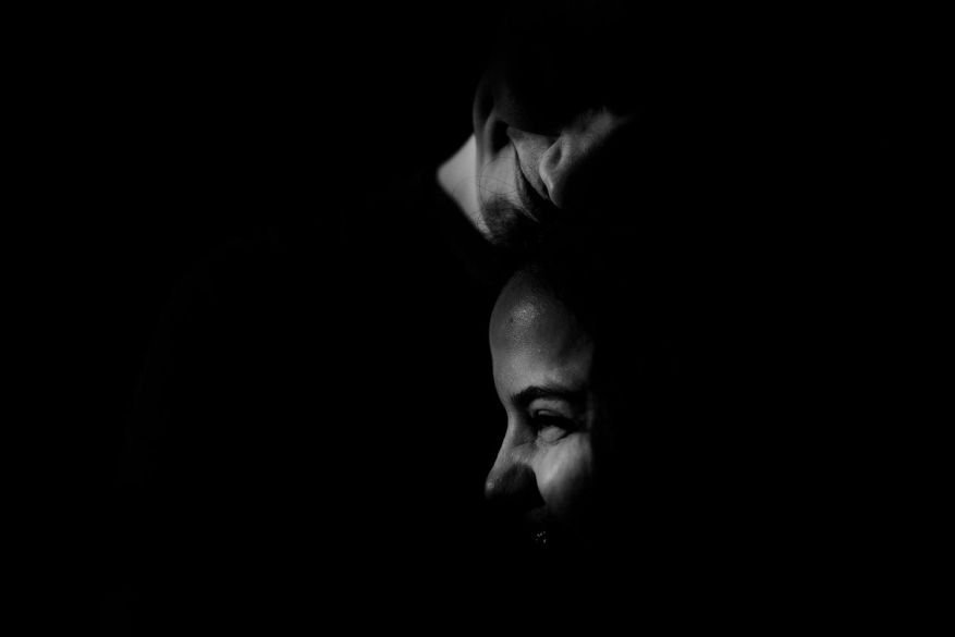 swedish boy and brasilian girl photo in black and white