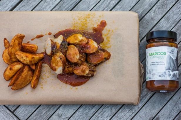 Currywurst mit Marcos Currywurst Sauce