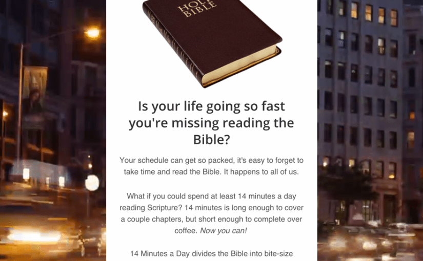 14 Minutes a Day - Bible reading at the pace of life