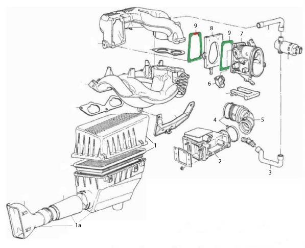 Reparación de una entrada de aire falsa en un BMW E36
