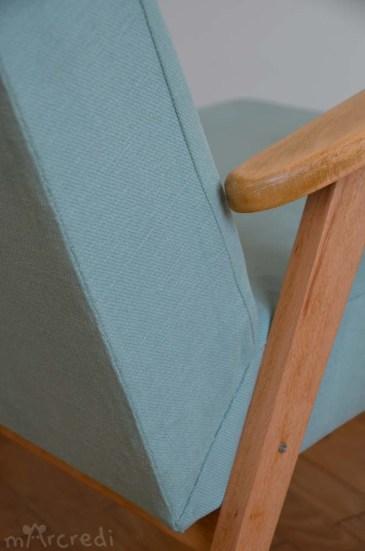 fauteuil vintage coutures