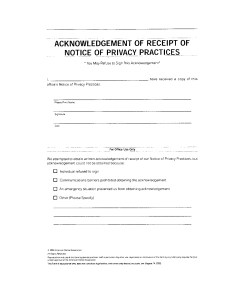 acknowledgement of receipt of notice of privacy practices - acknowledgement-of-receipt-of-notice-of-privacy-practices