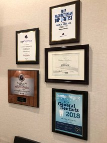 marcus dental awards and certifications closeup - Tour The Office