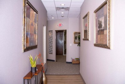 marcus dental front office hallway to waiting room - Tour The Office