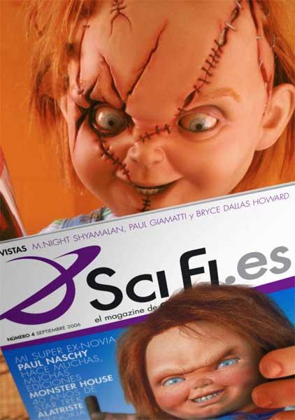 Chucky lendo a revista de Scifi.es
