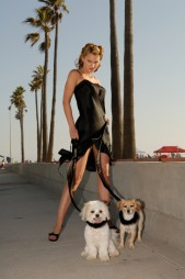 Amanda MacKay cos seus cadelos