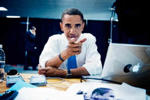 Obama co seu MacBook Pro