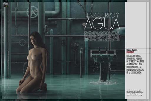 Blanca Romero e o derroche de auga