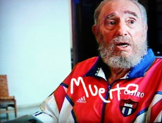 Fidel Castro retratado en PerezHilton.com