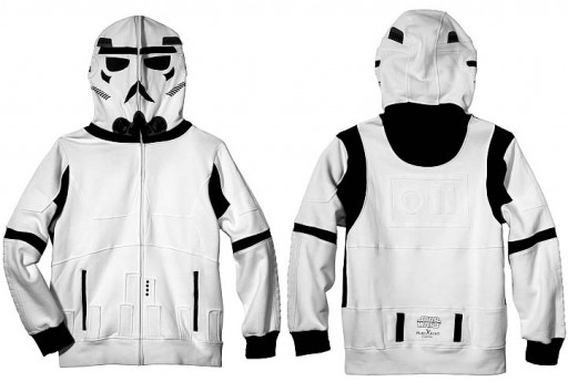 Chaqueta con capucha de trooper de Star Wars