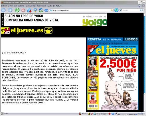 Web de El Jueves