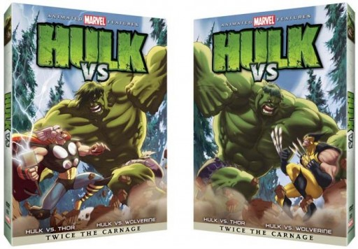 portada lenticular do DVD de Hulk VS