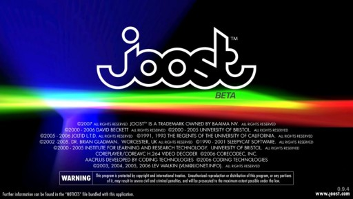 Splashscreen do Joost