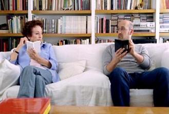 Amparo Baró e Javier Cámara promocionando a Nintendo DS
