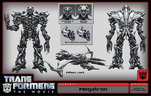 Deseño de Megatrón para  a película dos Transformers