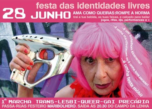 Cartel promocional da 1ª marcha LBGT precária