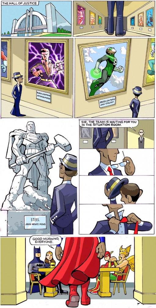 Super-Obama na Liga da Xustiza