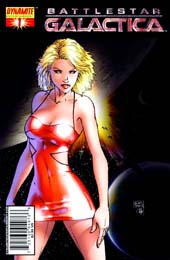 portada dun comic de Battlestar Galactica