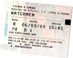 ticket de Watchmen
