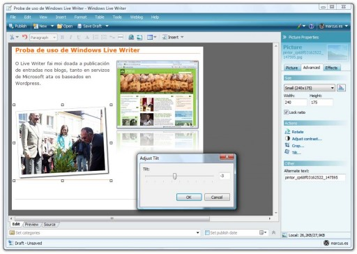 captura do Windows Live Writer