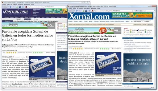 lixeiro cambio estético no Xornal.com