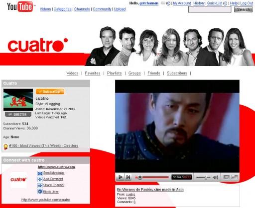 Cuatro en YouTube