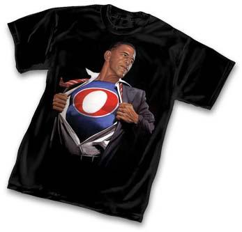 Camiseta co deseño de Alex Ross de Obama