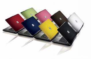 Dell Inspiron Mini de varias cores