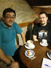 Os dous autores de Gaidil, Ignacio Rodríguez, á esquerda, e Pablo Fernández
