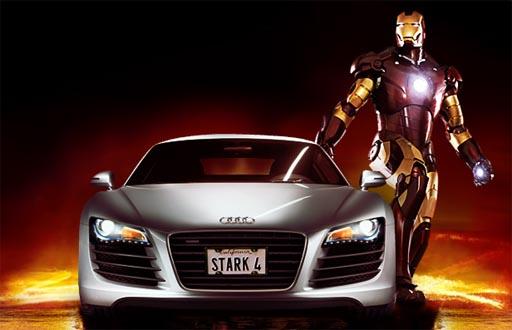 Iron Man anunciando un Audi